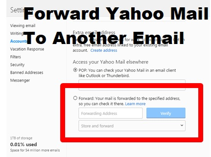 forward Yahoo mail to another gmail