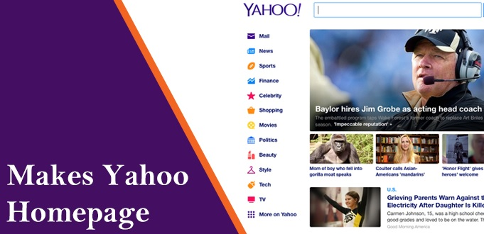 make yahoo my homepage
